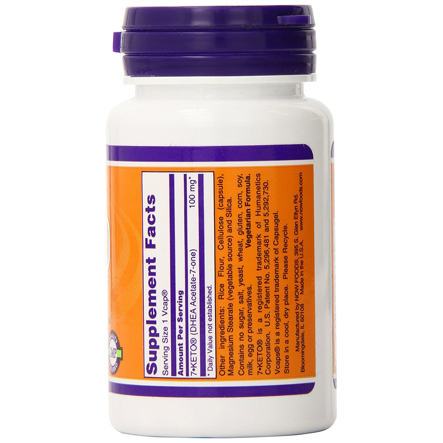 Now Foods 7-Keto 100mg - 30 Vegetarian Capsules 3